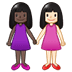 👩🏿🤝👩🏻 women holding hands: dark skin tone, light skin tone Emoji on Twitter Platform