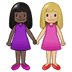 👩🏿‍🤝‍👩🏼 women holding hands: dark skin tone, medium-light skin tone Emoji on Twitter Platform