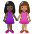 👩🏿‍🤝‍👩🏽 women holding hands: dark skin tone, medium skin tone Emoji on Twitter Platform