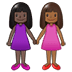 👩🏿‍🤝‍👩🏾 women holding hands: dark skin tone, medium-dark skin tone Emoji on Twitter Platform