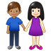 👩🏻‍🤝‍👨🏽 woman and man holding hands: light skin tone, medium skin tone Emoji on Twitter Platform