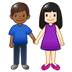 👩🏻‍🤝‍👨🏾 woman and man holding hands: light skin tone, medium-dark skin tone Emoji on Twitter Platform