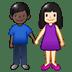 👩🏻🤝👨🏿 Light Skin Tone Woman And Dark Skin Tone Man Holding Hands Emoji on Twitter Platform