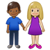 👩🏼‍🤝‍👨🏾 woman and man holding hands: medium-light skin tone, medium-dark skin tone Emoji on Twitter Platform