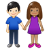 👩🏽‍🤝‍👨🏻 woman and man holding hands: medium skin tone, light skin tone Emoji on Twitter Platform