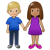 👩🏽‍🤝‍👨🏼 woman and man holding hands: medium skin tone, medium-light skin tone Emoji on Twitter Platform