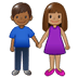 👩🏽‍🤝‍👨🏾 woman and man holding hands: medium skin tone, medium-dark skin tone Emoji on Twitter Platform