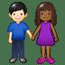 👩🏾🤝👨🏻 Medium Dark Skin Tone Woman And Light Skin Tone Man Holding Hands Emoji on Twitter Platform