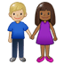 👩🏾‍🤝‍👨🏼 woman and man holding hands: medium-dark skin tone, medium-light skin tone Emoji on Twitter Platform