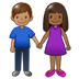 👩🏾‍🤝‍👨🏽 woman and man holding hands: medium-dark skin tone, medium skin tone Emoji on Twitter Platform