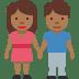👫🏾 woman and man holding hands: medium-dark skin tone Emoji on Twitter Platform