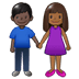 👩🏾‍🤝‍👨🏿 woman and man holding hands: medium-dark skin tone, dark skin tone Emoji on Twitter Platform