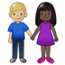 👩🏿‍🤝‍👨🏼 woman and man holding hands: dark skin tone, medium-light skin tone Emoji on Twitter Platform