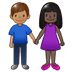 👩🏿‍🤝‍👨🏽 woman and man holding hands: dark skin tone, medium skin tone Emoji on Twitter Platform