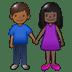 👩🏿🤝👨🏾 Dark Skin Tone Woman And Medium Dark Skin Tone Man Holding Hands Emoji on Twitter Platform