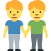 👬 men holding hands Emoji on Twitter Platform