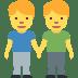 👬 Men Holding Hands Emoji on Twitter Platform