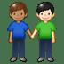 👨🏽🤝👨🏻 Medium Skin Tone And Light Skin Tone Men Holding Hands Emoji on Twitter Platform