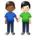 👨🏾‍🤝‍👨🏻 men holding hands: medium-dark skin tone, light skin tone Emoji on Twitter Platform