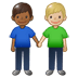👨🏾‍🤝‍👨🏼 men holding hands: medium-dark skin tone, medium-light skin tone Emoji on Twitter Platform