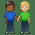 👨🏾🤝👨🏼 men holding hands: medium-dark skin tone, medium-light skin tone Emoji on Twitter Platform