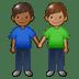 👨🏾🤝👨🏽 men holding hands: medium-dark skin tone, medium skin tone Emoji on Twitter Platform