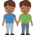 👬🏾 men holding hands: medium-dark skin tone Emoji on Twitter Platform