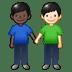 👨🏿🤝👨🏻 men holding hands: dark skin tone, light skin tone Emoji on Twitter Platform