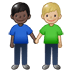 👨🏿‍🤝‍👨🏼 men holding hands: dark skin tone, medium-light skin tone Emoji on Twitter Platform