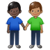 👨🏿‍🤝‍👨🏽 men holding hands: dark skin tone, medium skin tone Emoji on Twitter Platform