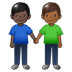 👨🏿‍🤝‍👨🏾 men holding hands: dark skin tone, medium-dark skin tone Emoji on Twitter Platform