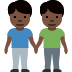 👬🏿 Dark Skin Tone Men Holding Hands Emoji on Twitter Platform