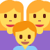 👩‍👩‍👦 Family With Woman, Woman And Boy Emoji on Twitter Platform