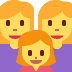 👩👩👧 family: woman, woman, girl Emoji on Twitter Platform