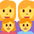 👩👩👧👦 family: woman, woman, girl, boy Emoji on Twitter Platform