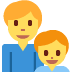 👨‍👦 family: man, boy Emoji on Twitter Platform