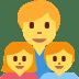 👨👧👦 family: man, girl, boy Emoji on Twitter Platform