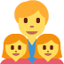 👨👧👧 Family With Man, Girl And Girl Emoji on Twitter Platform