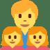 👨👧👧 family: man, girl, girl Emoji on Twitter Platform