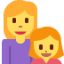 👩👧 family: woman, girl Emoji on Twitter Platform
