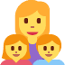👩‍👧‍👦 family: woman, girl, boy Emoji on Twitter Platform