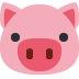 🐷 pig face Emoji on Twitter Platform