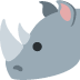 🦏 rhinoceros Emoji on Twitter Platform