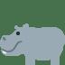 🦛 hippopotamus Emoji on Twitter Platform