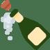 🍾 bottle with popping cork Emoji on Twitter Platform