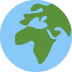 🌍 globe showing Europe-Africa Emoji on Twitter Platform