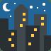 🌃 night with stars Emoji on Twitter Platform