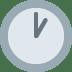 🕐 one o'clock Emoji on Twitter Platform