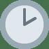 🕑 two o'clock Emoji on Twitter Platform