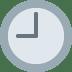 🕘 nine o'clock Emoji on Twitter Platform